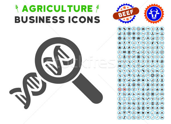 Genetics Icon with Agriculture Set Stock photo © ahasoft