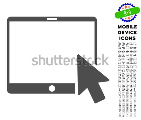Tablet Arrow Pointer Flat Raster Icon Stock photo © ahasoft
