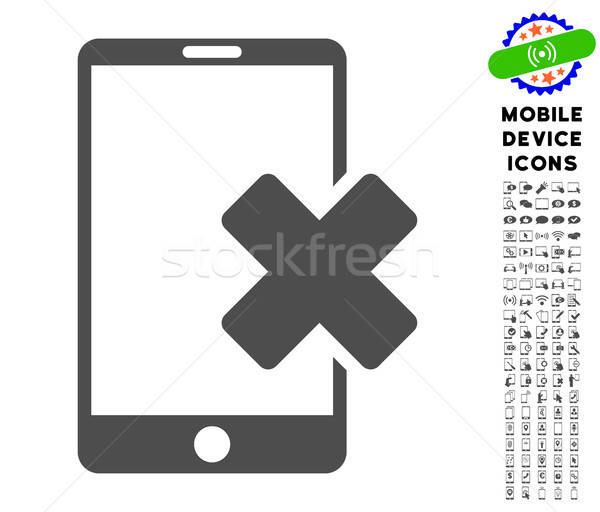 Wrong Smartphone Icon with Set Stock photo © ahasoft
