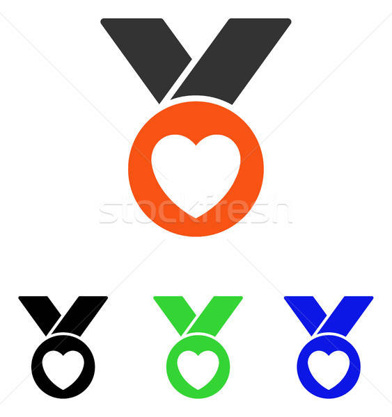 Charity Medal Flat Vector Icon Stock photo © ahasoft