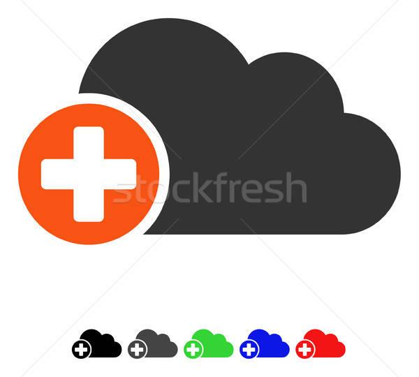 Create Cloud Flat Icon Stock photo © ahasoft
