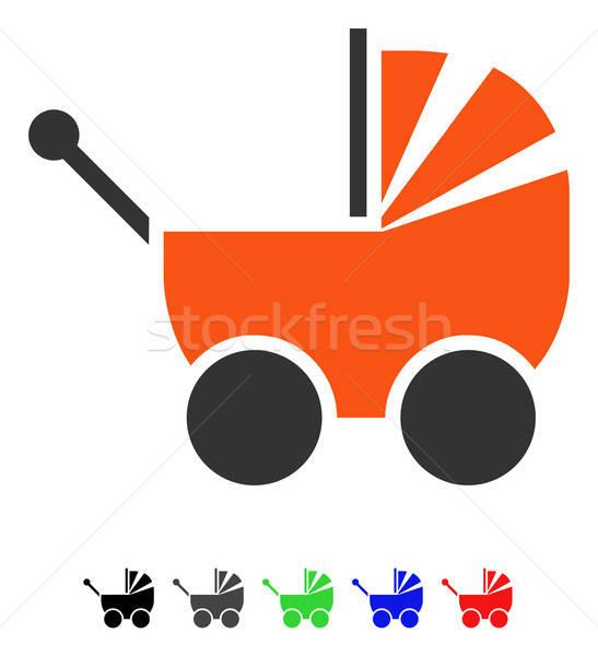 Landau icône vecteur pictogramme couleur Photo stock © ahasoft
