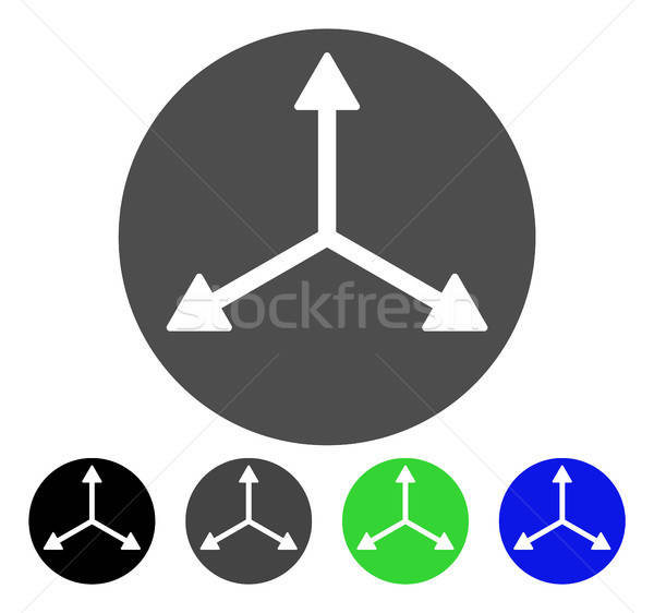 Stock photo: 3D Isometry Directions Flat Icon