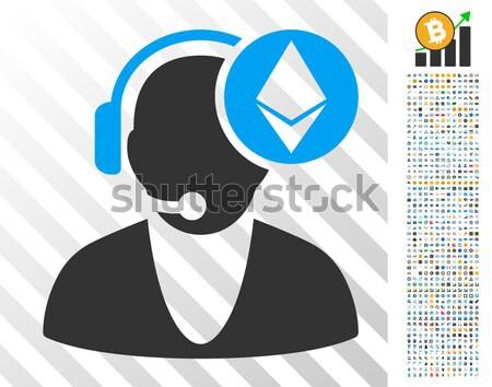 Ethereum Operator Flat Icon Stock photo © ahasoft