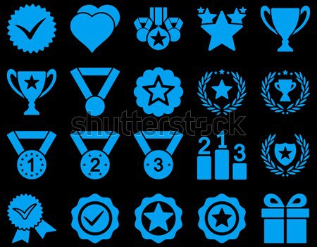 Ethereum Award Medal Vector Icon Set Stock photo © ahasoft