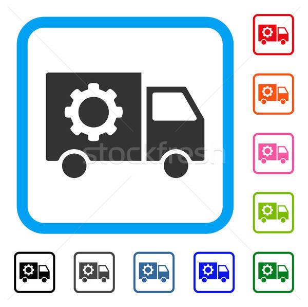 Gear инструменты доставки автомобилей икона серый Сток-фото © ahasoft