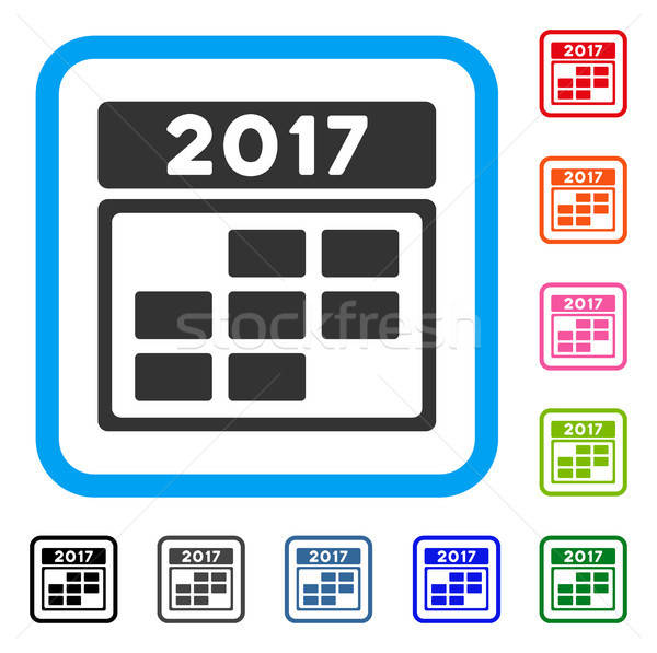Kalender week grid icon grijs Stockfoto © ahasoft