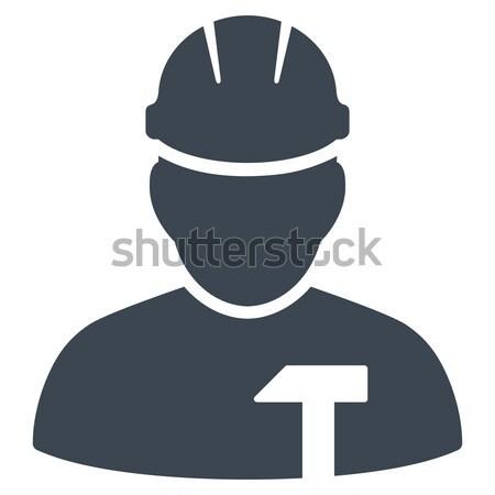 Pracownika ikona wektora stylu graficzne szary Zdjęcia stock © ahasoft