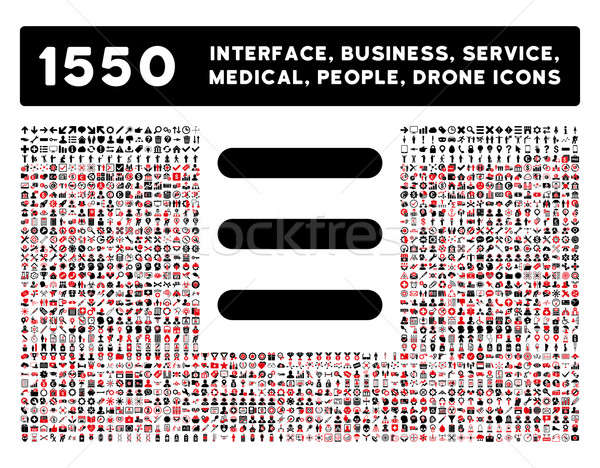 Menu Icon and More Interface, Business, Tools, People, Medical, Awards Flat Glyph Icons Stock photo © ahasoft