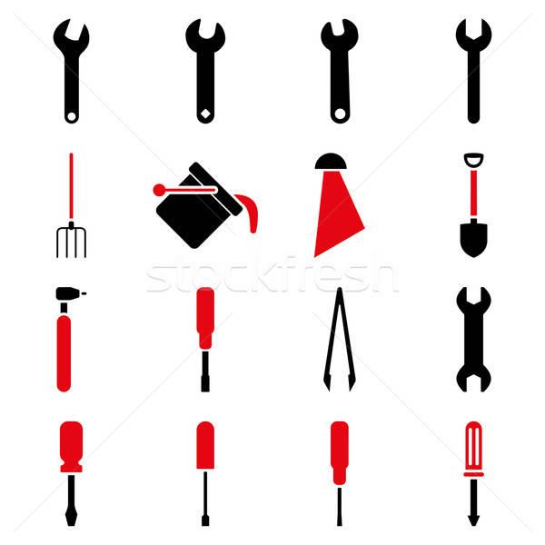 Outils vecteur style symboles intensive Photo stock © ahasoft