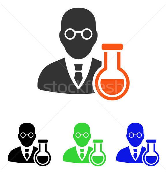 Chemist Flat Vector Icon Stock photo © ahasoft