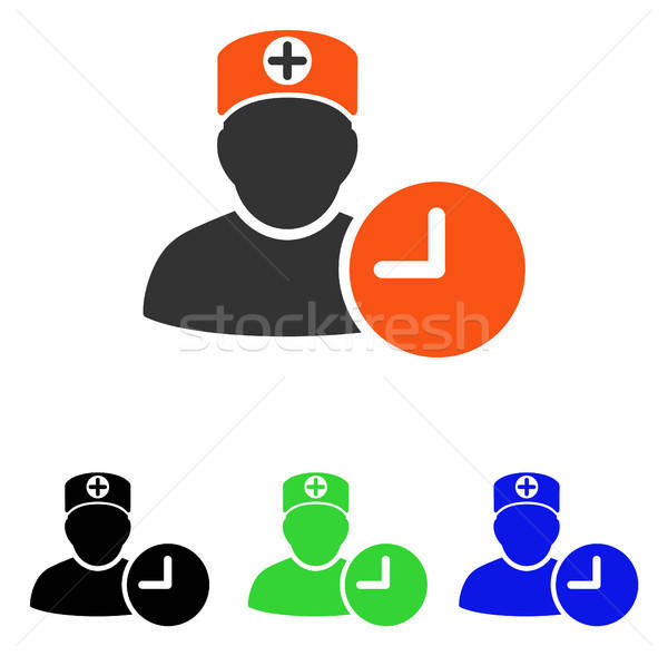 Doktor zamanlamak saat vektör ikon örnek Stok fotoğraf © ahasoft