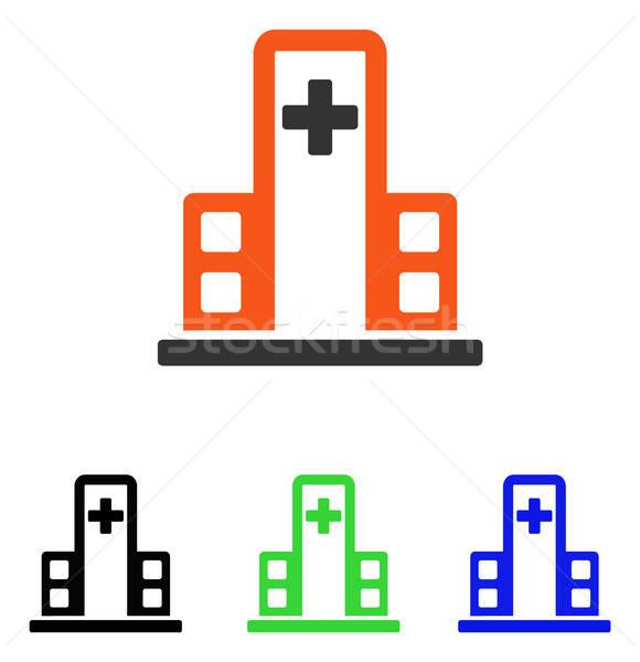 Hospital Building Flat Vector Icon Stock photo © ahasoft