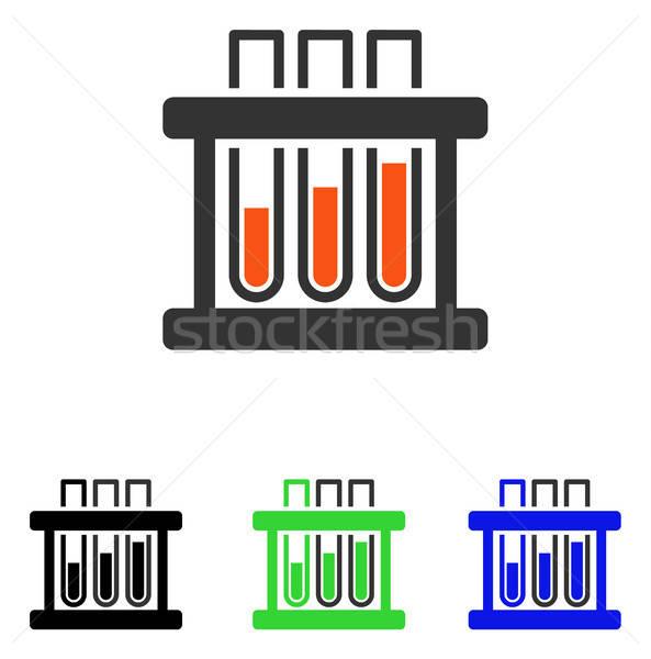 Teszt csövek vektor ikon illusztráció stílus Stock fotó © ahasoft
