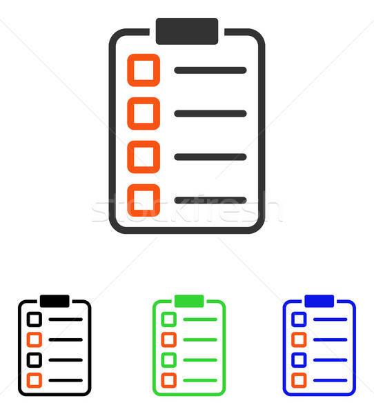 Prueba forma vector icono ilustración estilo Foto stock © ahasoft