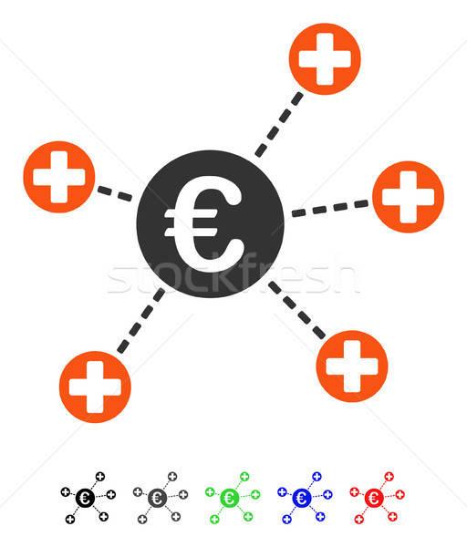 Euro medycznych linki ikona kolorowy kolor Zdjęcia stock © ahasoft