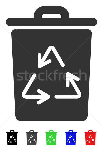 мусорное ведро икона вектора пиктограммы цвета Сток-фото © ahasoft
