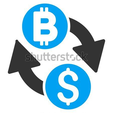 Bitcoin Mining Pool Flat Icon Stock photo © ahasoft
