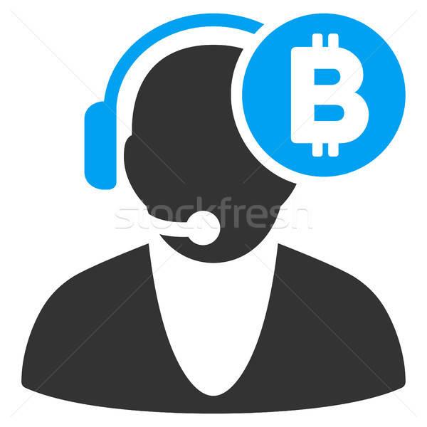 Bitcoin Operator Flat Icon Stock photo © ahasoft