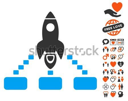 űr rakéta törődés kezek ikon bitcoin Stock fotó © ahasoft