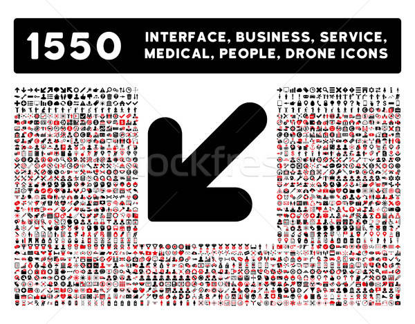 Arrow Down Left Icon and More Interface, Business, Tools, People, Medical, Awards Flat Vector Icons Stock photo © ahasoft