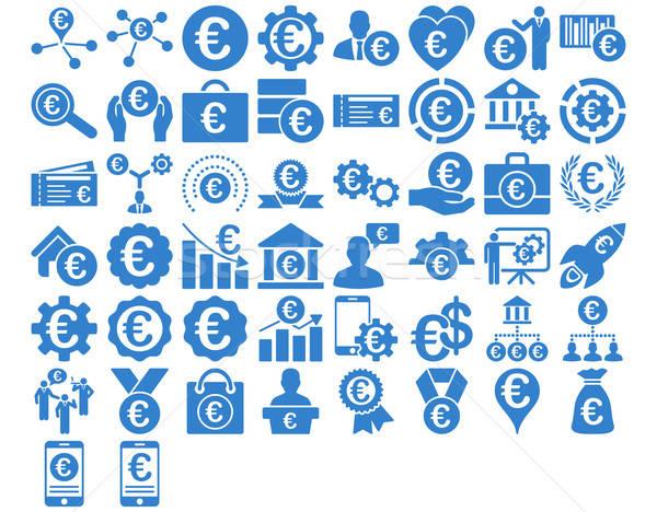 Euro działalności ikona kobalt kolor wektora Zdjęcia stock © ahasoft