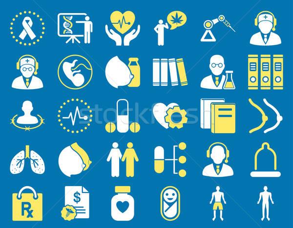 Stok fotoğraf: Tıbbi · simgeler · sarı · beyaz · renkler