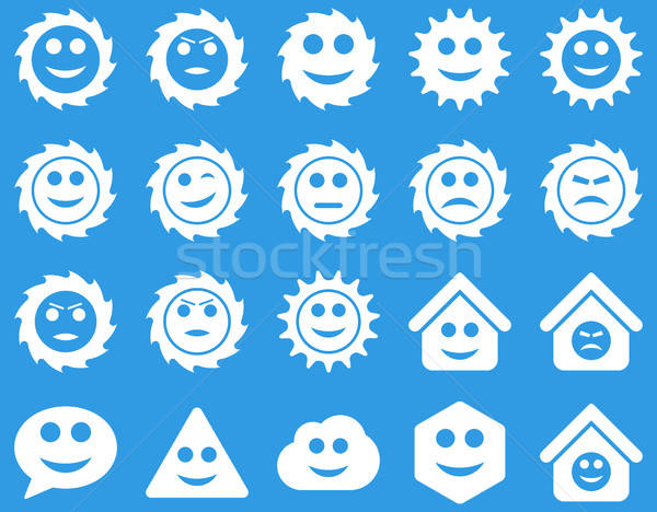 Tools, gears, smiles, emotions icons Stock photo © ahasoft