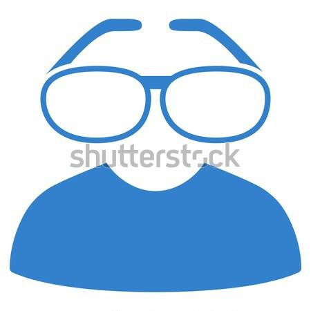 Inteligente gafas icono gris interfaz pictograma Foto stock © ahasoft