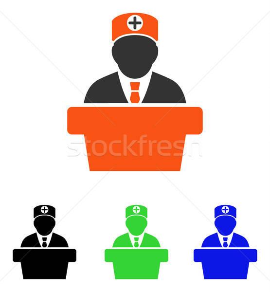 Medizinischen offiziellen Vortrag Vektor Symbol Illustration Stock foto © ahasoft