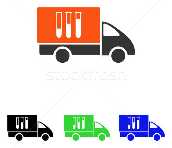 Analysis Delivery Flat Vector Icon Stock photo © ahasoft