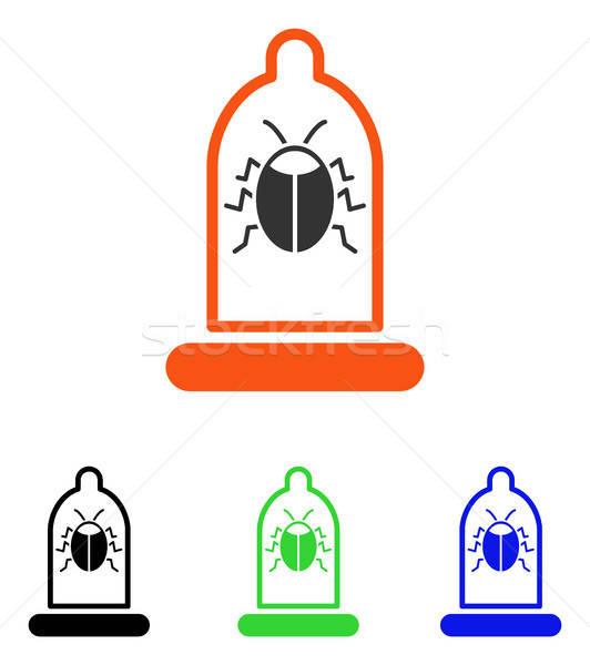 Bug Protection Condom Flat Vector Icon Stock photo © ahasoft