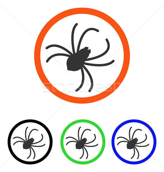 Spider Flat Vector Icon Stock photo © ahasoft