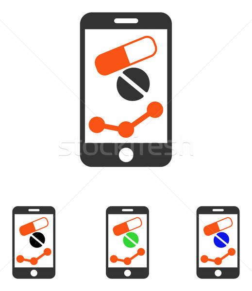 Farmacia online relazione vettore icona pittogramma Foto d'archivio © ahasoft