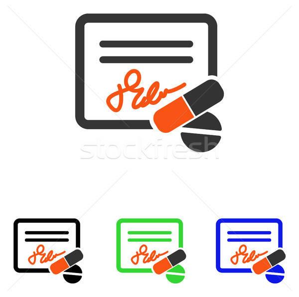 Nyugta vektor ikon piktogram illusztráció stílus Stock fotó © ahasoft