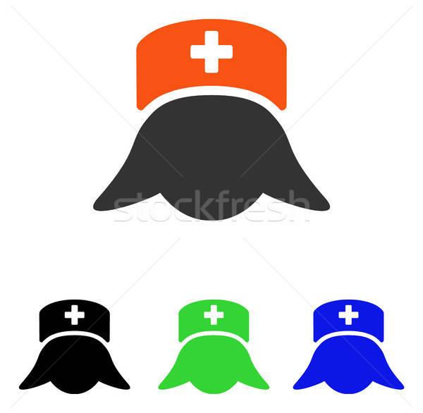 Hospital Nurse Head Flat Vector Icon Stock photo © ahasoft