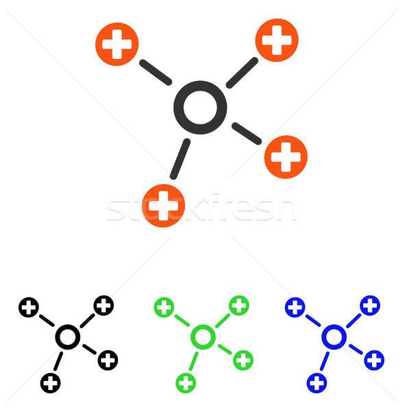 Stockfoto: Gezondheidszorg · links · vector · icon · illustratie · stijl