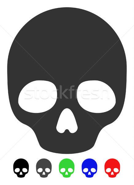 череп икона вектора цвета черный Сток-фото © ahasoft