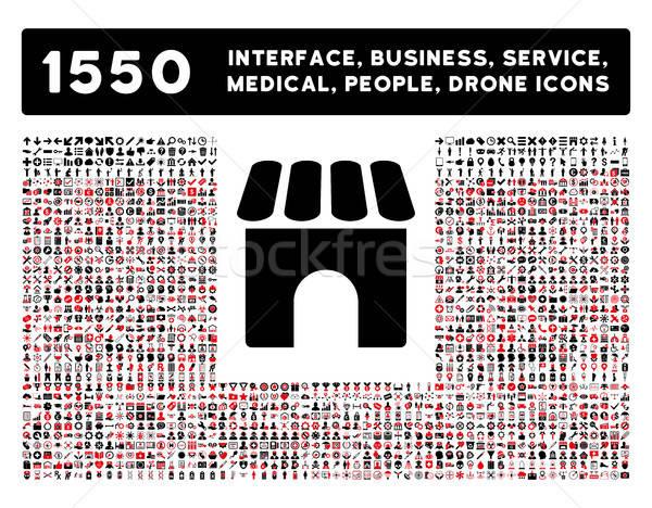 Winkel icon meer interface business tools Stockfoto © ahasoft