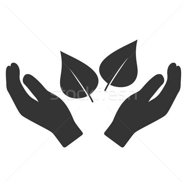 Flora Care Hands Flat Icon Stock photo © ahasoft