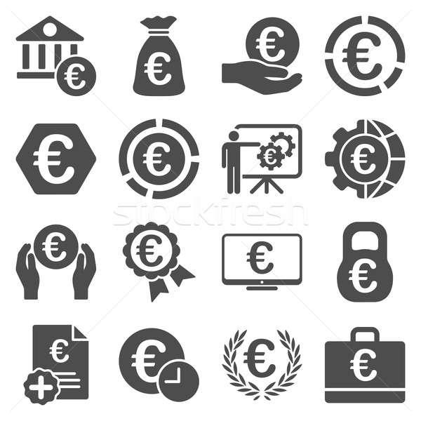 Stok fotoğraf: Euro · bankacılık · iş · hizmet · araçları · simgeler