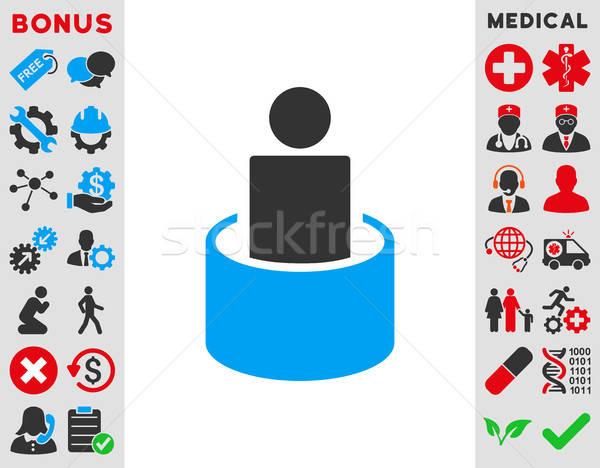 患者 分離 アイコン ベクトル スタイル シンボル ストックフォト © ahasoft
