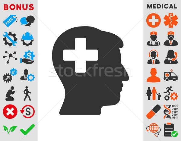 Meg férfi fej ikon stílus szimbólum Stock fotó © ahasoft