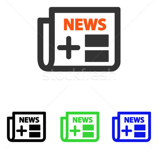 Medical Newspaper Flat Vector Icon Stock photo © ahasoft
