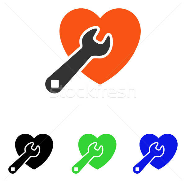 Heart Repair Flat Vector Icon Stock photo © ahasoft