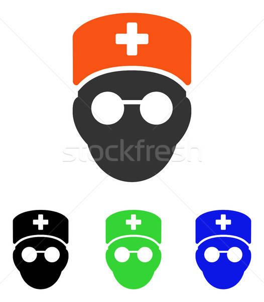 Medikus fej vektor ikon piktogram illusztráció Stock fotó © ahasoft
