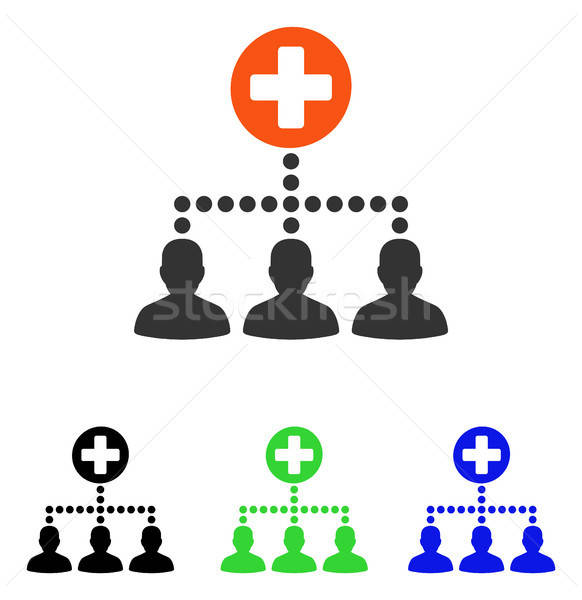 Medical Client Links Flat Vector Icon Stock photo © ahasoft