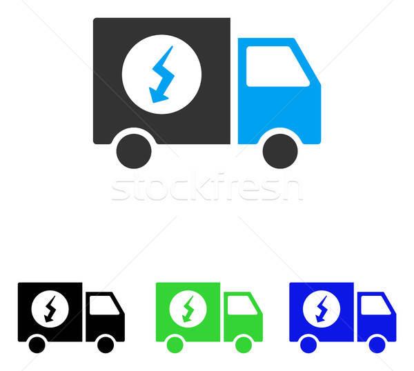 Güç kaynağı kamyonet vektör ikon örnek stil Stok fotoğraf © ahasoft