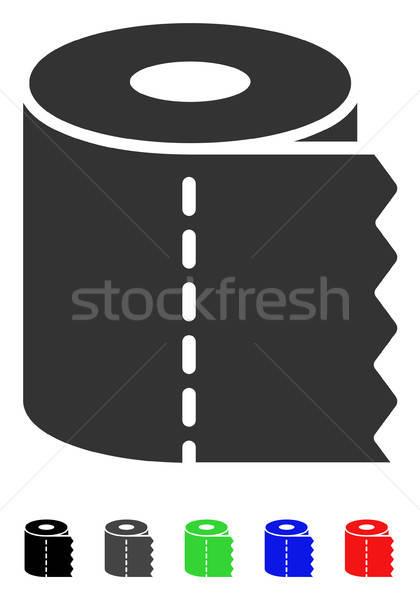 Carta igienica rotolare icona vettore colorato colore Foto d'archivio © ahasoft