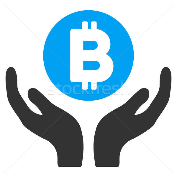 Bitcoin Support Hands Flat Icon Stock photo © ahasoft